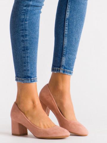 Pantofi cu toc cod FM1089 Pink