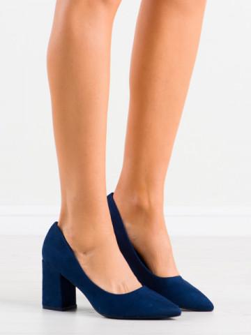 Pantofi cu toc cod GG74 Dark Blue
