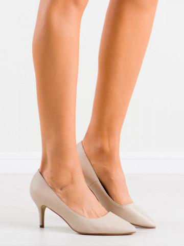 Pantofi cu toc cod K308 Beige