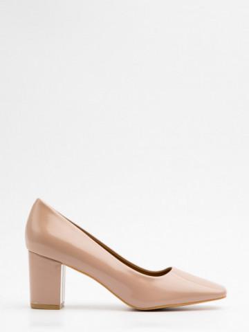 Pantofi cu toc cod X21-732 Beige