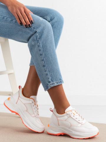 Pantofi sport cod 23-53 White/Orange