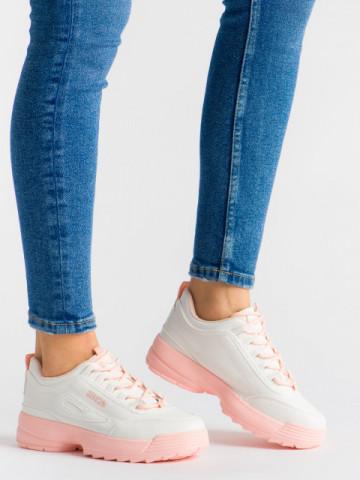 Pantofi sport cod ABC-306 White/Pink