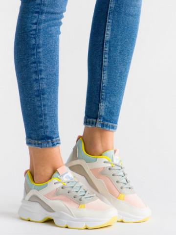 Pantofi sport cod ABC-316 White/pink