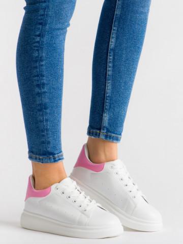 Pantofi sport cod B80 White/Pink