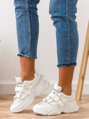 Pantofi sport cod E300 White