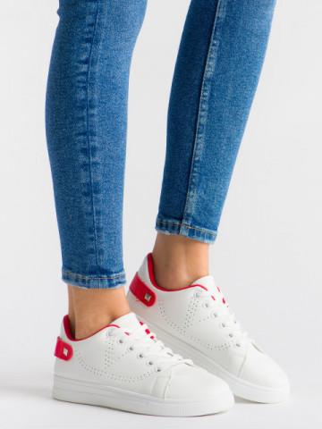 Pantofi sport cod J1827 White/Red