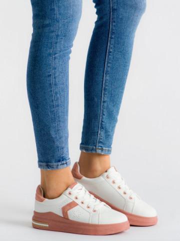 Pantofi sport cod J1828 White/Pink
