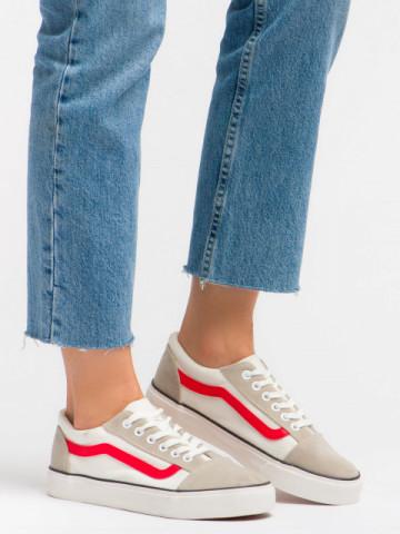 Pantofi sport cod JW18 White/Red