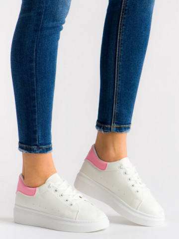Pantofi sport cod T01 White/Pink
