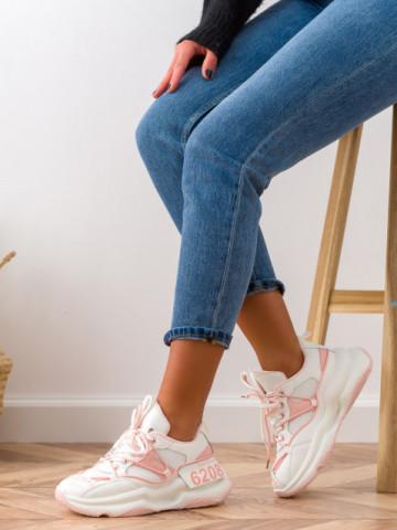 Pantofi sport cod W6607 White/Pink