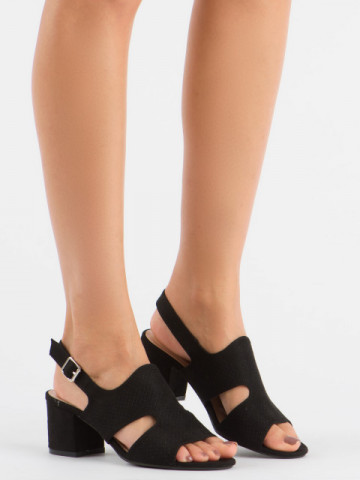 Sandale cu toc cod 1-122 Black