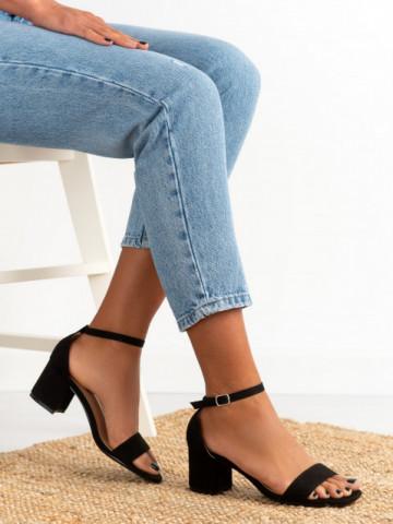 Sandale cu toc cod 1-133 Black