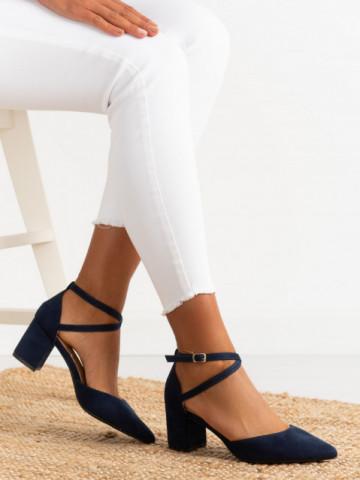 Sandale cu toc cod 6361 Blue