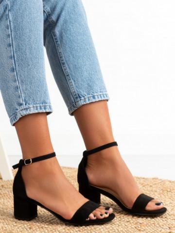 Sandale cu toc cod 8833 Black