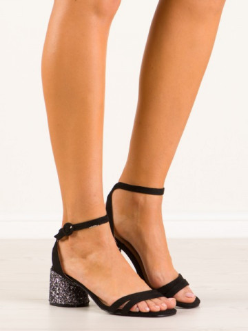 Sandale cu toc cod 9248-1 Black