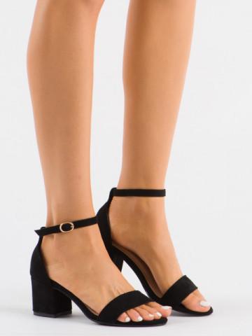 Sandale cu toc cod 99-36A Black