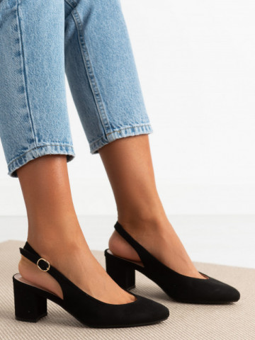 Sandale cu toc cod 9R27 Black