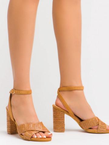 Sandale cu toc cod BL00106 Camel