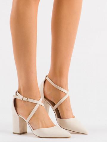 Sandale cu toc cod D85-5Y Beige