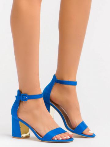 Sandale cu toc cod EK0056 Blue