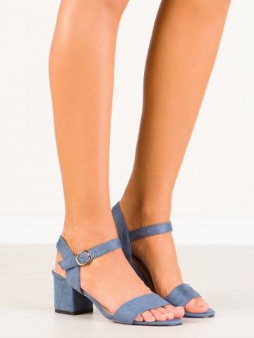 Sandale cu toc cod JF628 Blue