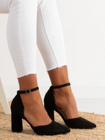 Sandale cu toc cod KK37 Black