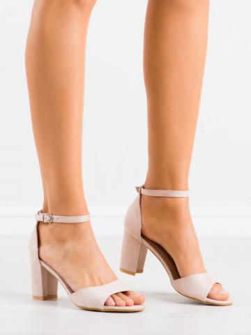 Sandale cu toc cod LL208 Beige