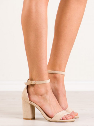 Sandale cu toc cod LT113 Beige
