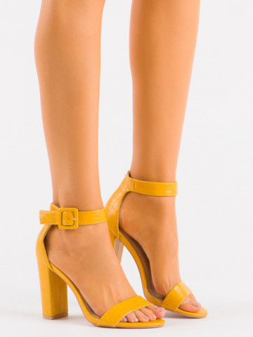 Sandale cu toc cod LU0027 Yellow