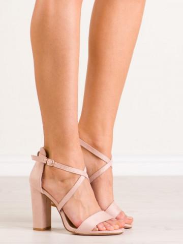 Sandale cu toc cod NC802 Beige