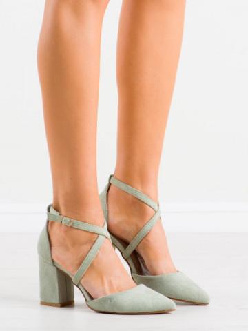 Sandale cu toc cod NC900 Green