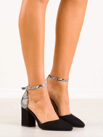 Sandale cu toc cod NC903 Black