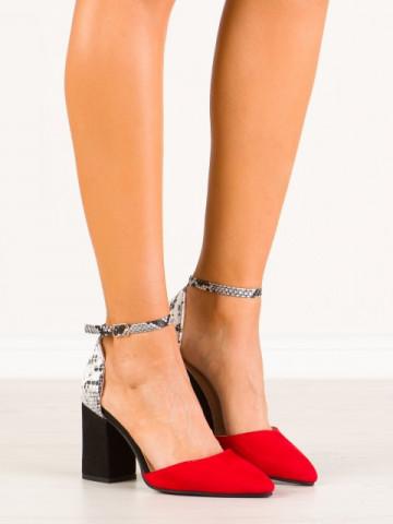 Sandale cu toc cod NC903 Red