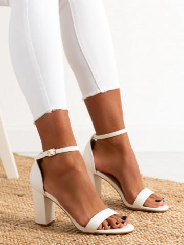 Sandale cu toc cod OD0350 White