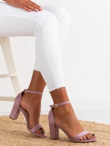 Sandale cu toc cod OD0351 Purple
