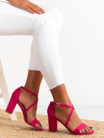 Sandale cu toc cod OD0352 Fushia