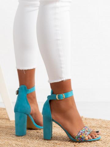 Sandale cu toc cod OD344 Blue
