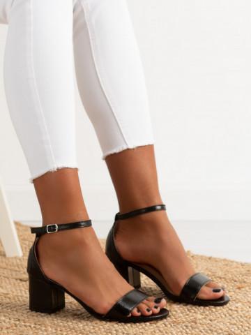 Sandale cu toc cod QL159 Black