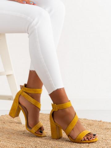 Sandale cu toc cod S901 Yellow
