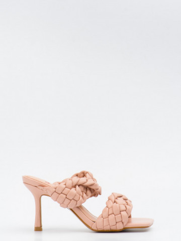 Sandale cu toc cod T369 Beige