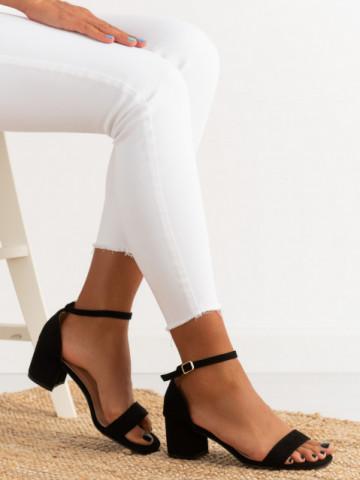Sandale cu toc cod TU171 Black