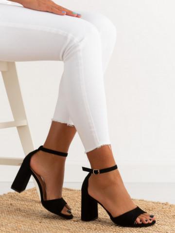 Sandale cu toc cod TU173 Black