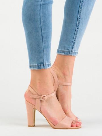 Sandale cu toc cod HX2B02 Pink