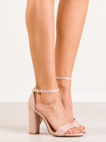 Sandale cu toc cod NC795 Beige