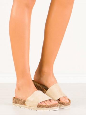 Papuci cod 6130 Beige