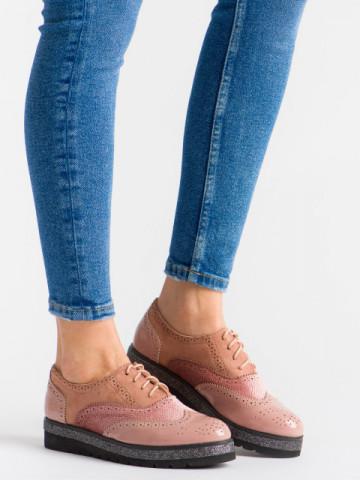 Pantofi casual cod 727-14 Pink