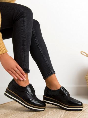 Pantofi casual cod S011 Black