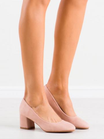 Pantofi cu toc cod 8989 Pink