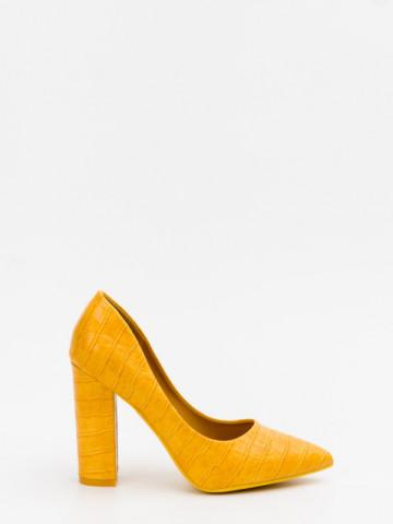 Pantofi cu toc cod 9182-4 Yellow
