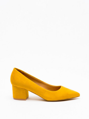 Pantofi cu toc cod A-3370 Yellow